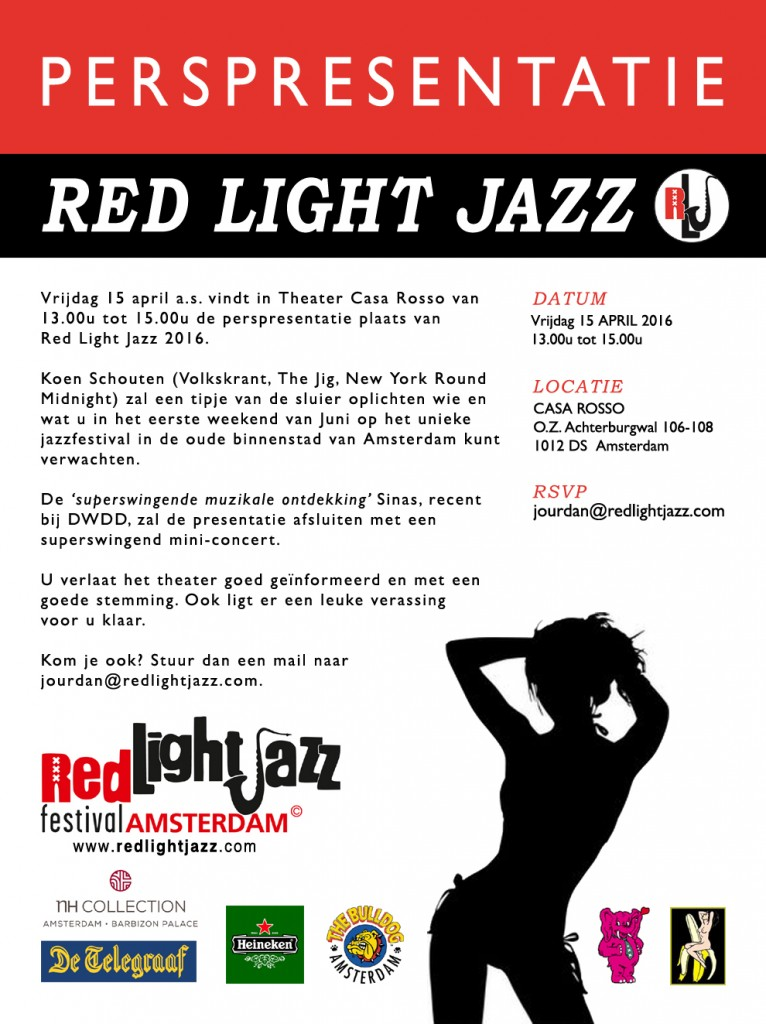 Perspresentatie Red Light Jazz 2016