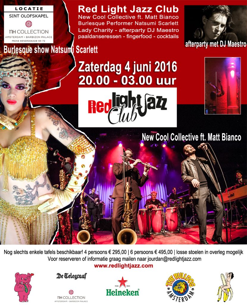Red Light Jazz Club 2016 (flyer)
