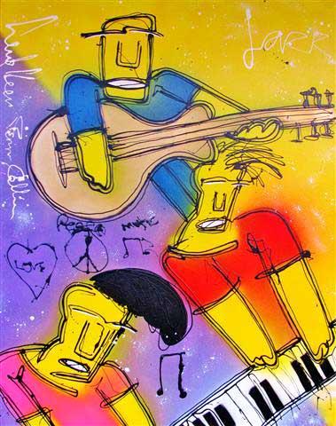 Terry Callier schilderij gemaakt door Henk Veen