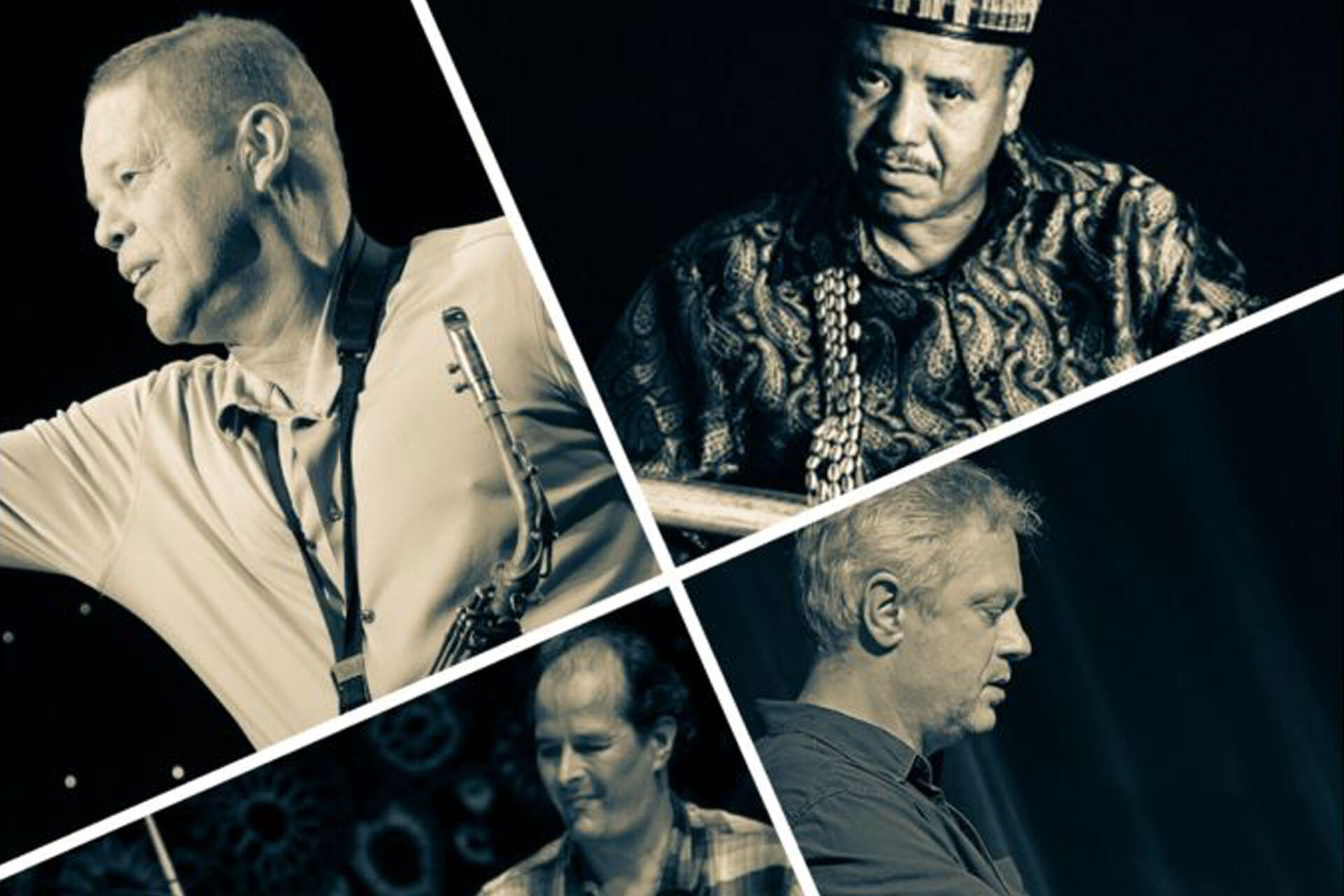 MAJID-BEKKAS-PAUL-VAN-KEMENADE-STEVKO-BUSCH-MARKKU-OUNASKARI-treden-op-het-Red-Light-Jazz-festival-in-Amsterdam