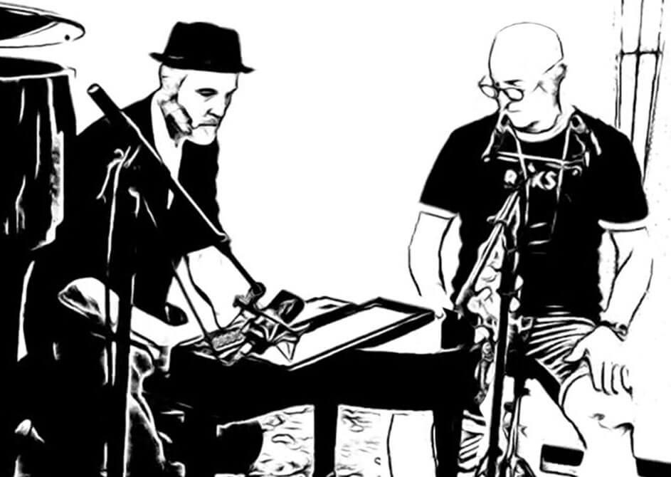 Martin-Fondse-en-Jeroen-de-Rijk-optreden-in-de-Korpszaal-Leger-des-Heils-tijdens-Red-Light-Jazz-2021